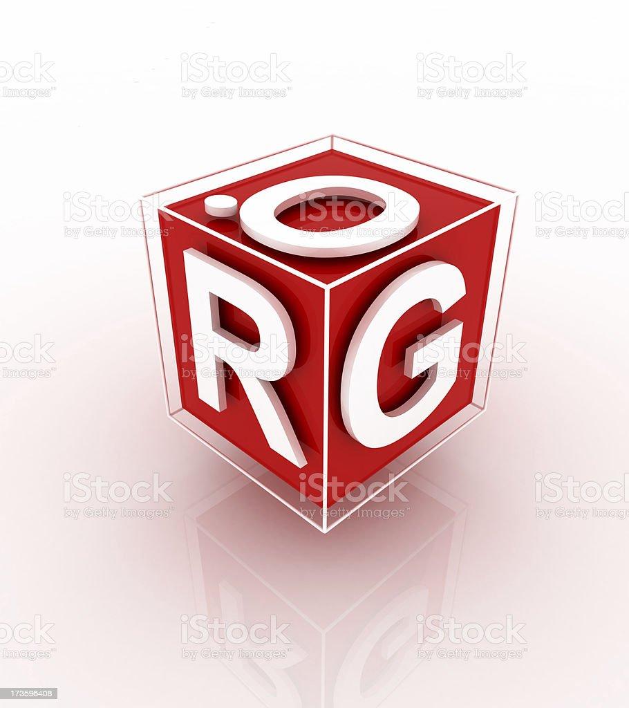 Dot Org Cube royalty-free stock photo