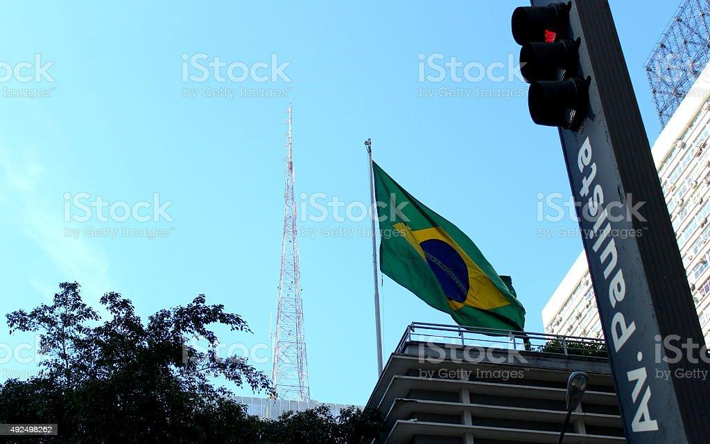 Dot the city of São Paulo stock photo