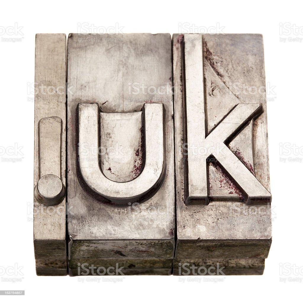 dot UK - internet domain for United Kingdom royalty-free stock photo