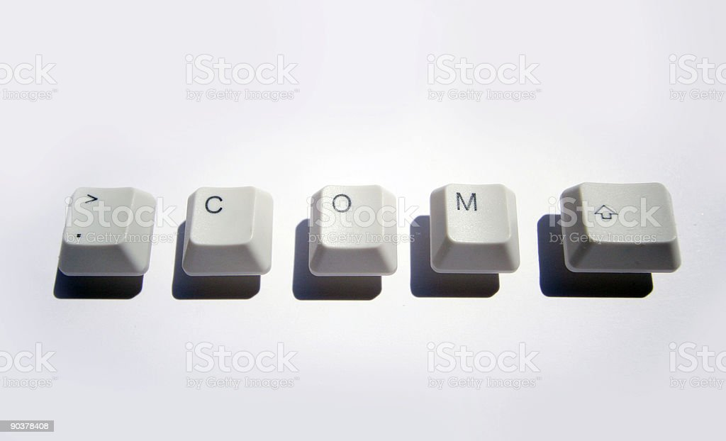 dotcom keys stock photo