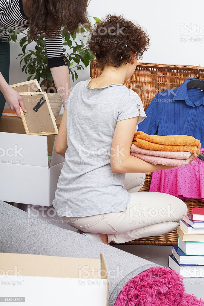 Dother moving out stock photo