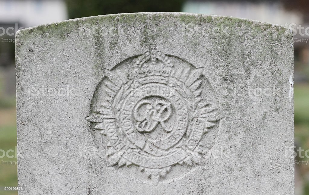 WWII military grave East Surrey Regiment stock photo