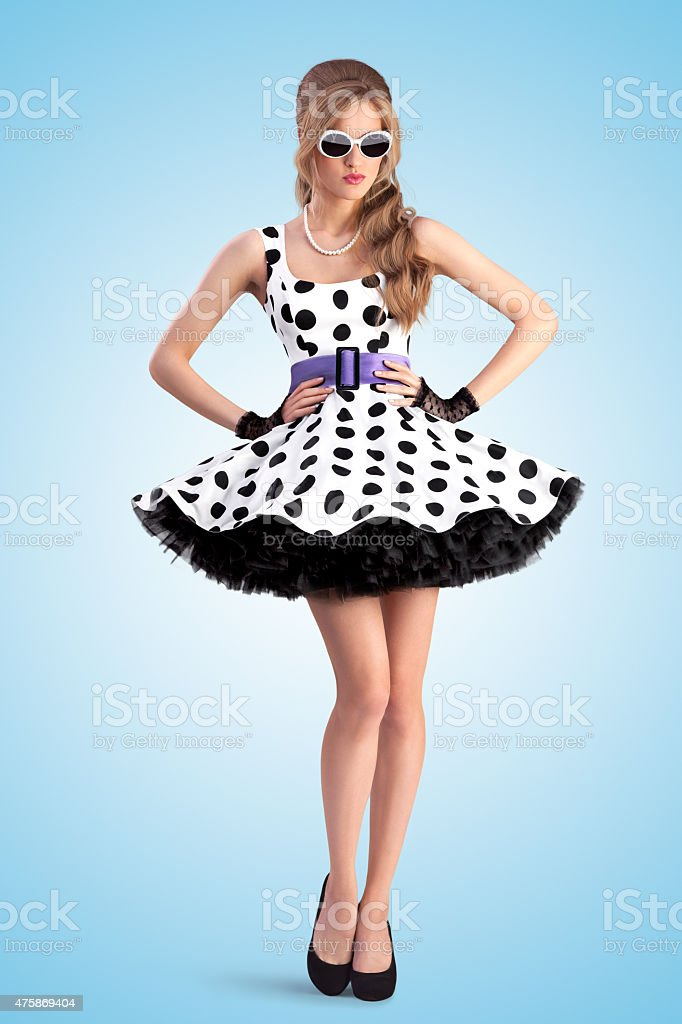Dotted dress. stock photo