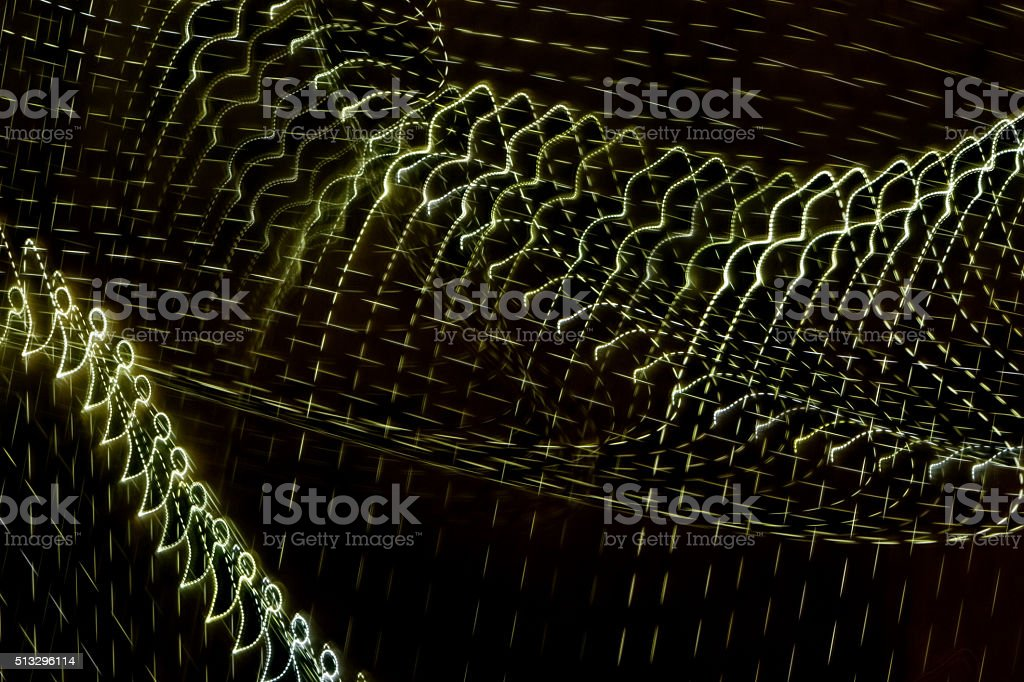 dotted light  lines -light painting stock photo