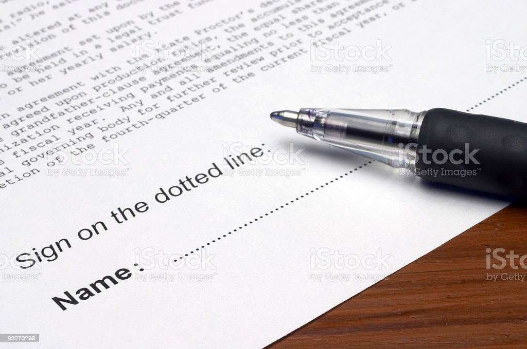 Dotted Line stock photo