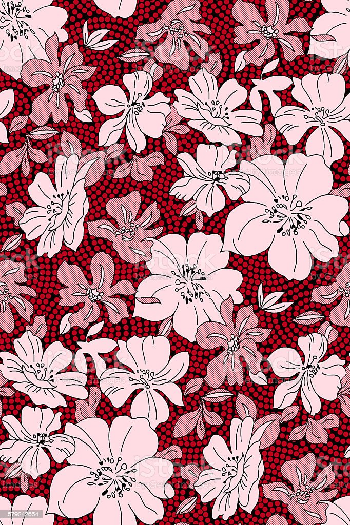 dotted pattern flower stock photo
