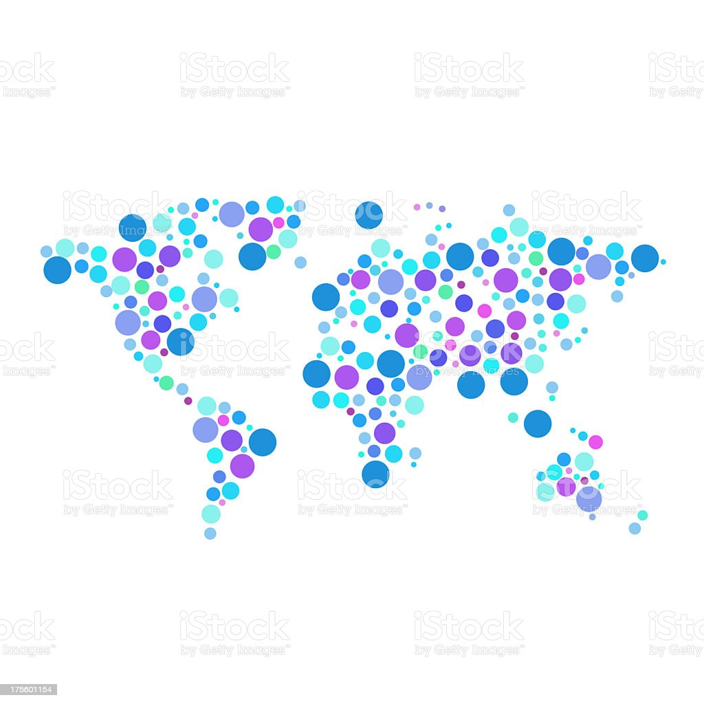 XXXL Dotted world map stock photo