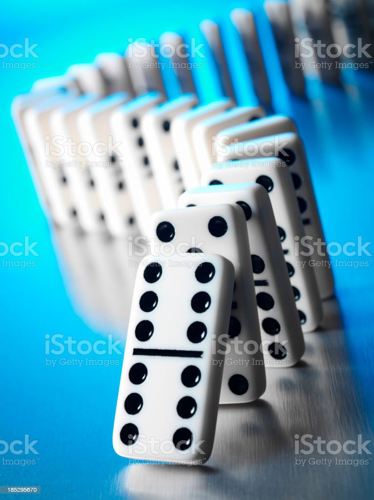 Dotts on Donimoes with a Donimo Effect stock photo