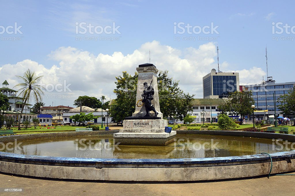 Douala, Cameroon: central square - city center stock photo
