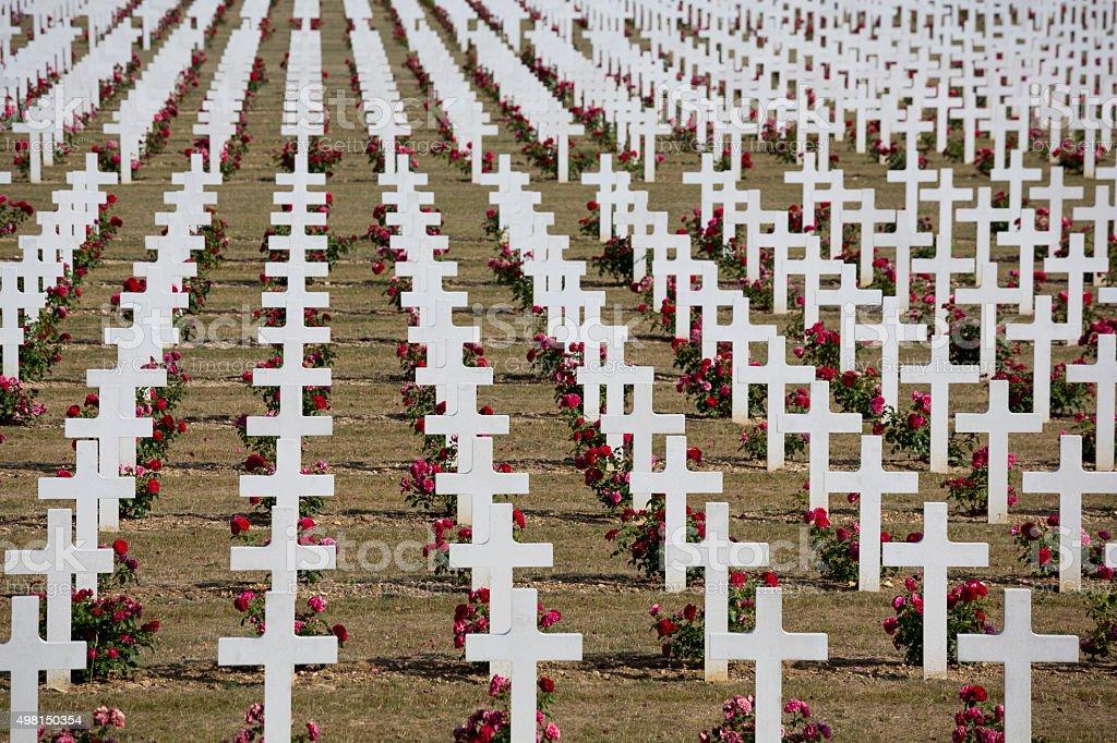 Douaumont Ossuary, Battle of Verdun, World War I France Armistice stock photo