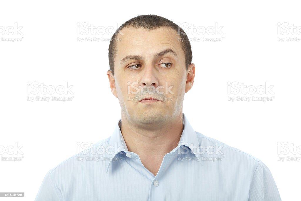 Doubful businessman stock photo