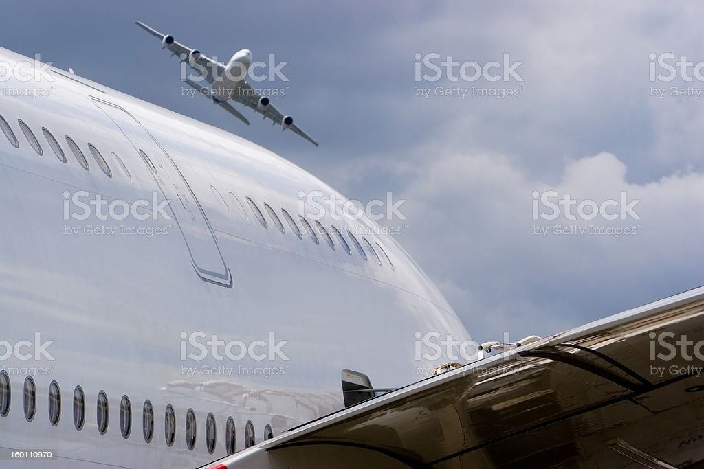 Double A380 royalty-free stock photo