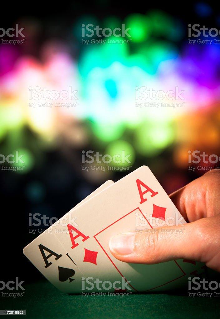 Double ace stock photo
