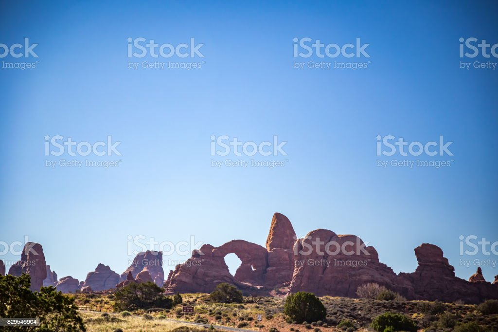Double Arch Arches National Park stock photo