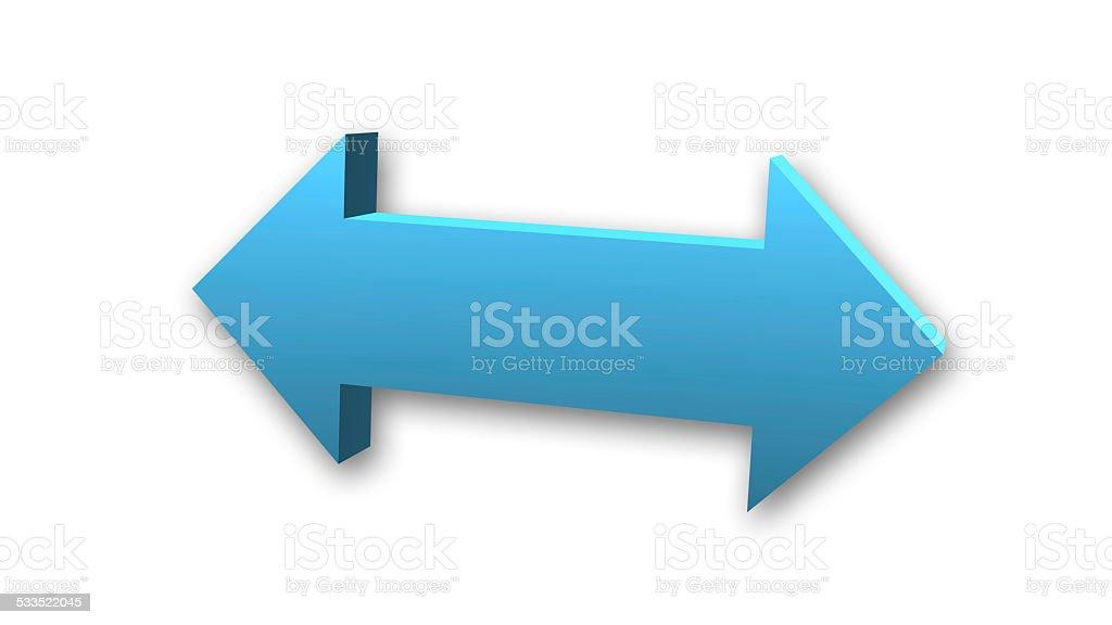 Double arrow symbol stock photo