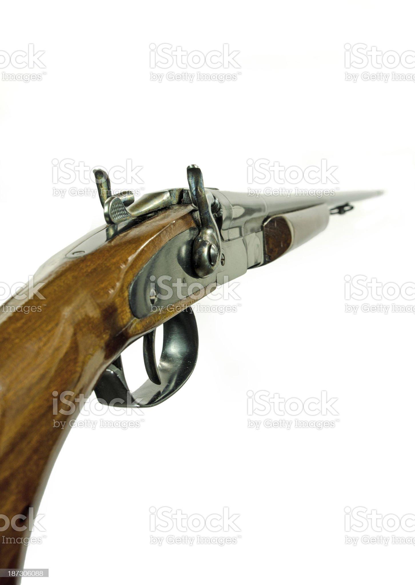 Double Barrel Shotgun royalty-free stock photo