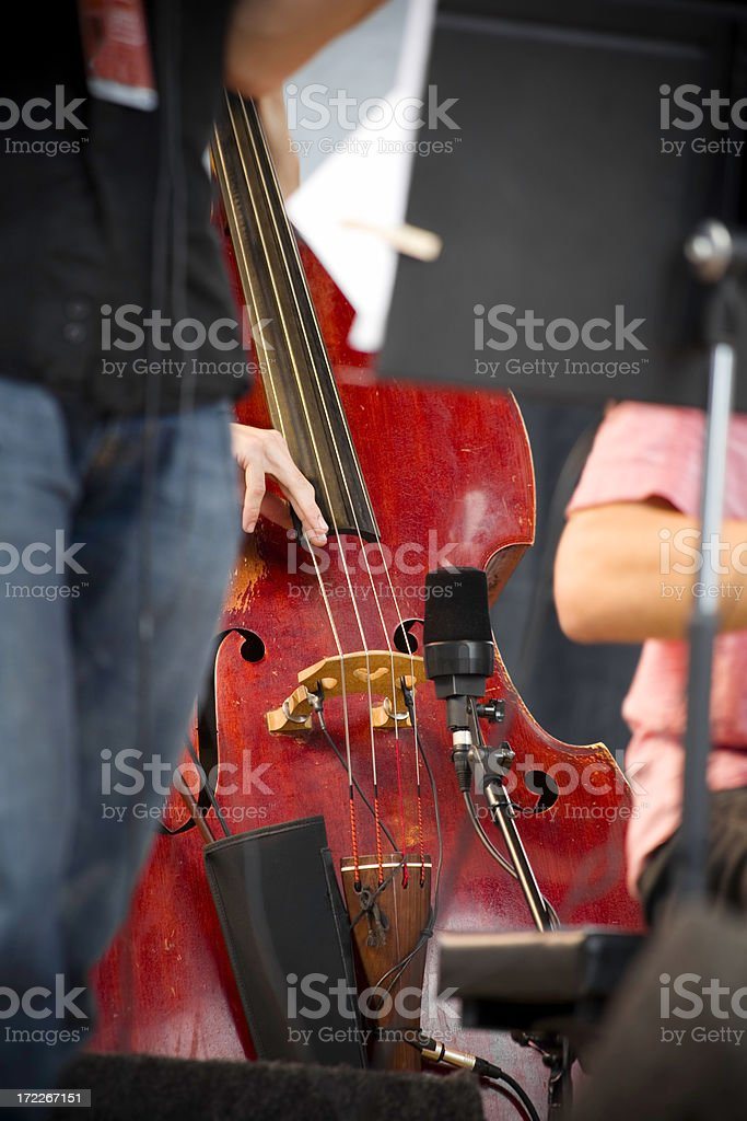 Double bass on stage royalty-free stock photo
