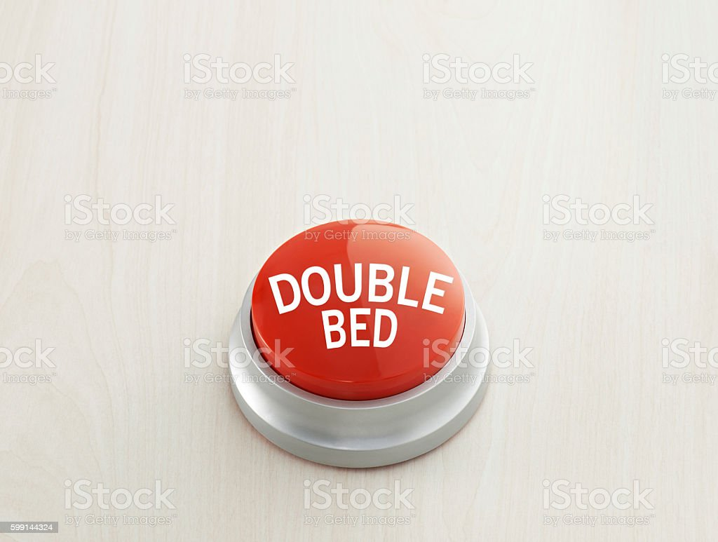 Double bed button stock photo