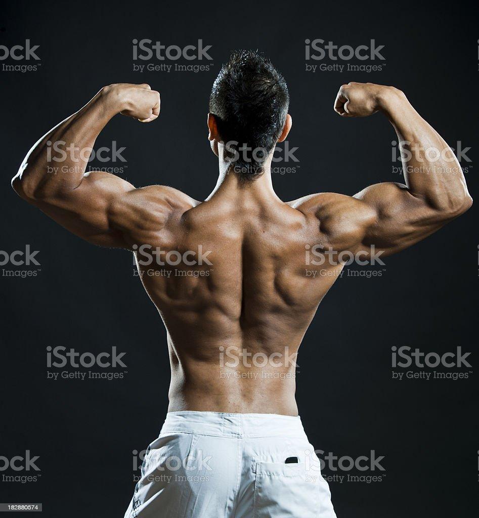 Double biceps flex royalty-free stock photo