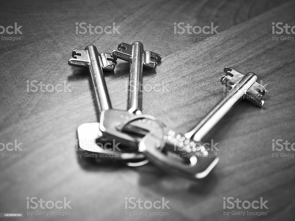 Double bit keys stock photo