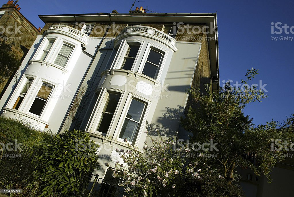 Double bow fronted London town house royalty-free stock photo