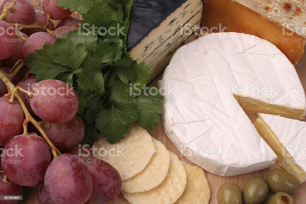 Double brie cheese platter royalty-free stock photo