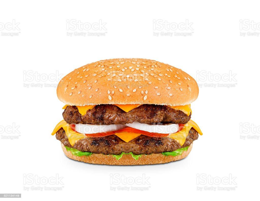 Double Burger stock photo