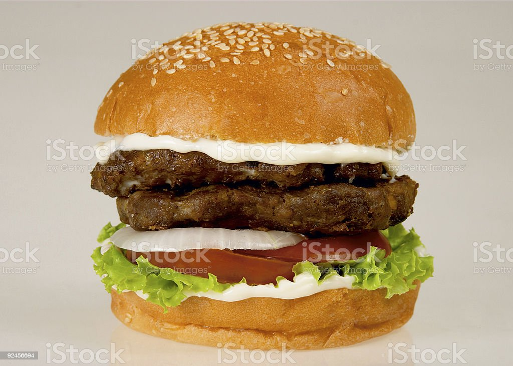 double burger royalty-free stock photo