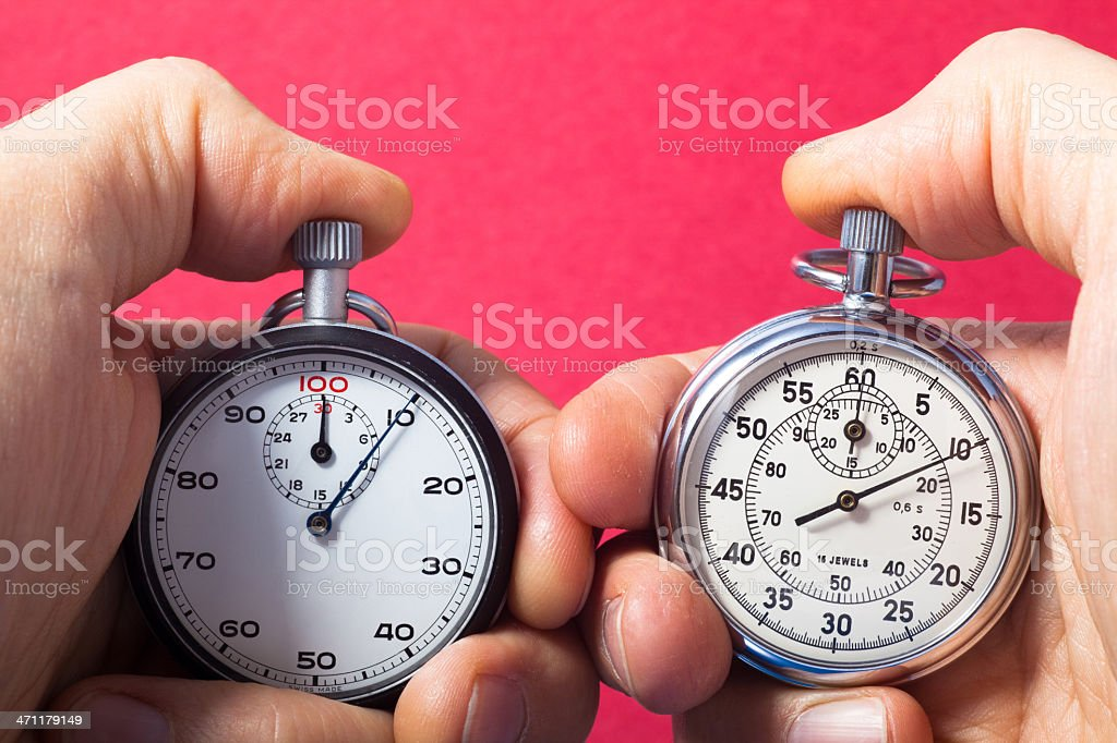 Double Check Stopwatch stock photo