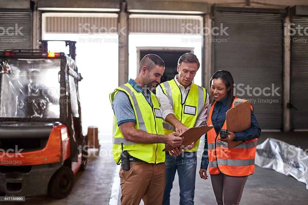 Double checking before delivery stock photo