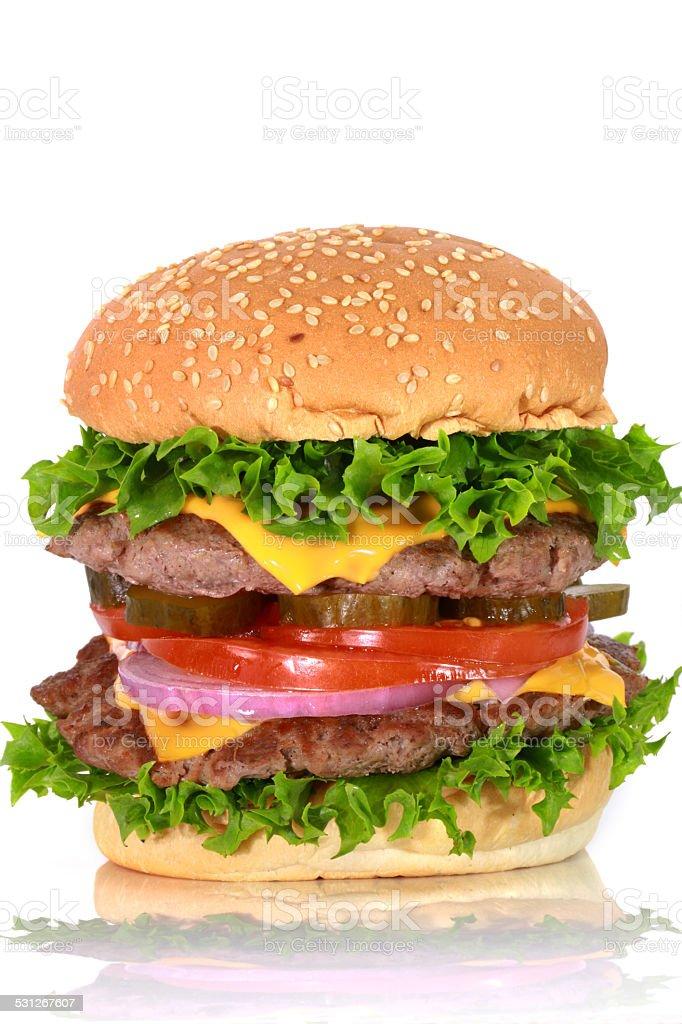 Double Cheese Burger stock photo
