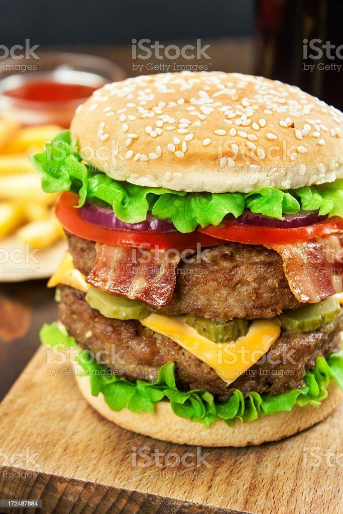 Double Cheeseburger royalty-free stock photo