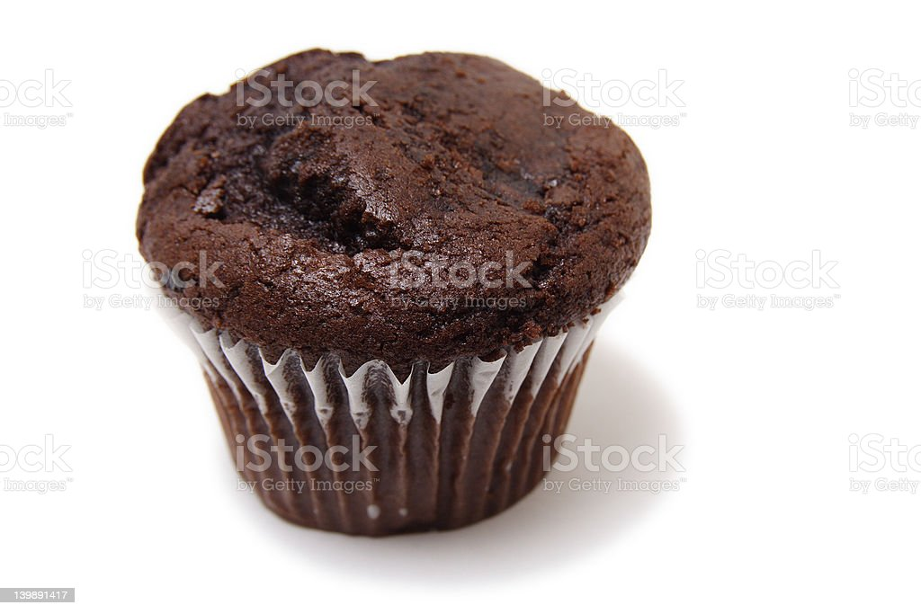 Double choc chip muffin royalty-free stock photo