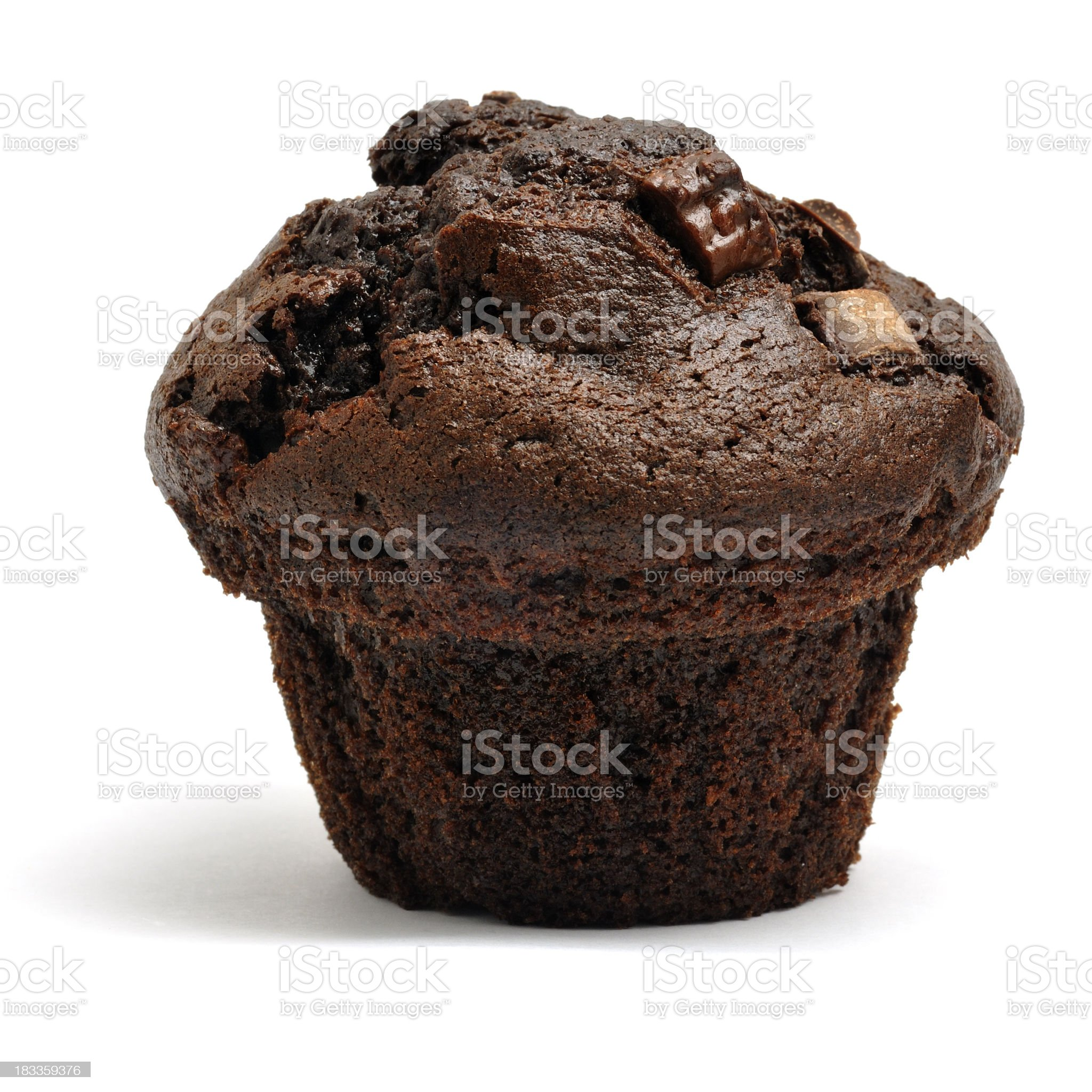 Double Chocolate Chip Muffin royalty-free stock photo