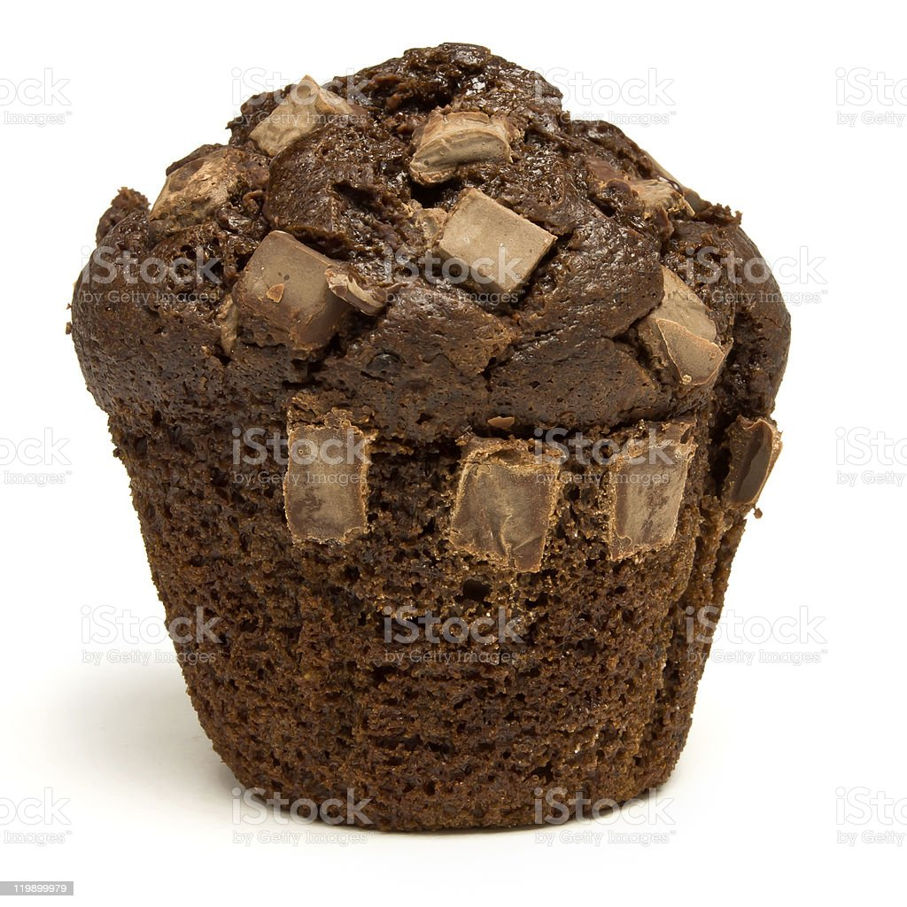Double Chocolate Muffin royalty-free stock photo