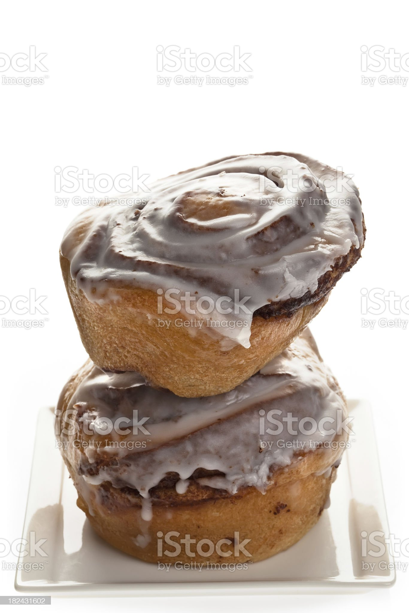 Double Cinnamon Buns royalty-free stock photo