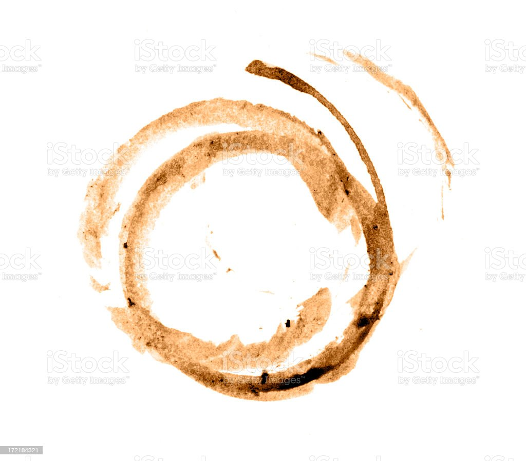 Double Coffee Stain royalty-free stock photo