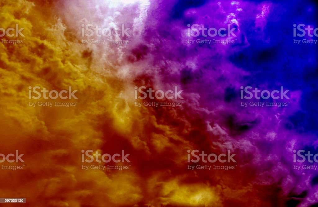 Double color burst yellow and blue , abstract backgroung stock photo