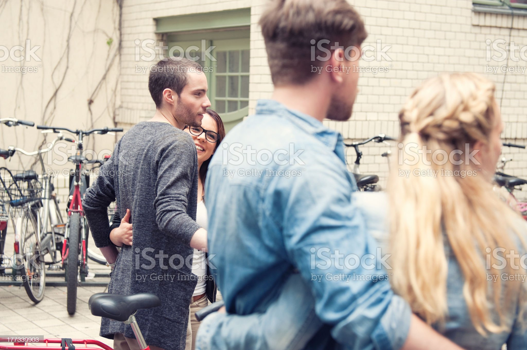 Double date in Berlin royalty-free stock photo