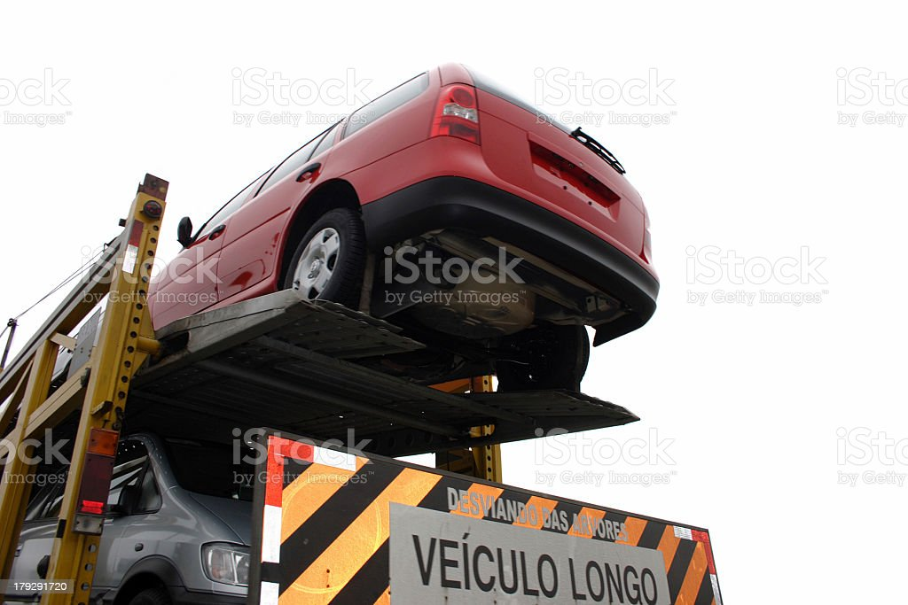 Double decked - Semi truck royalty-free stock photo