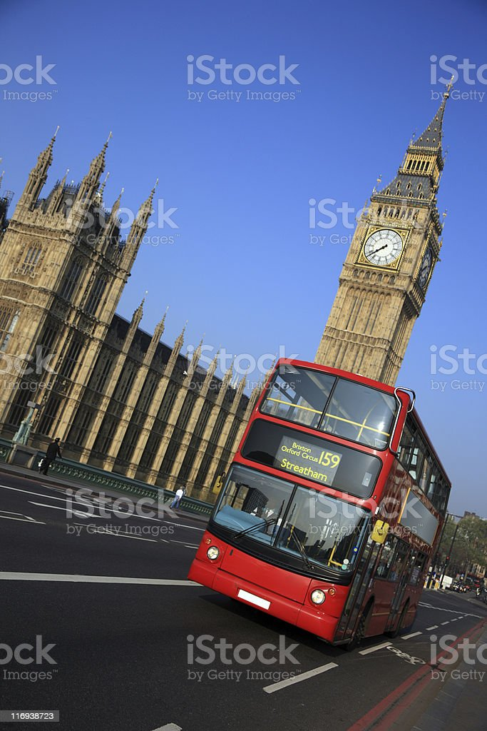 Double Decker Bus, London, UK royalty-free stock photo