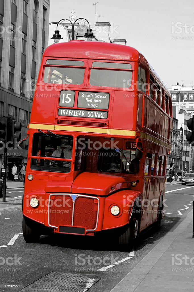 Double Decker - Red London Bus royalty-free stock photo