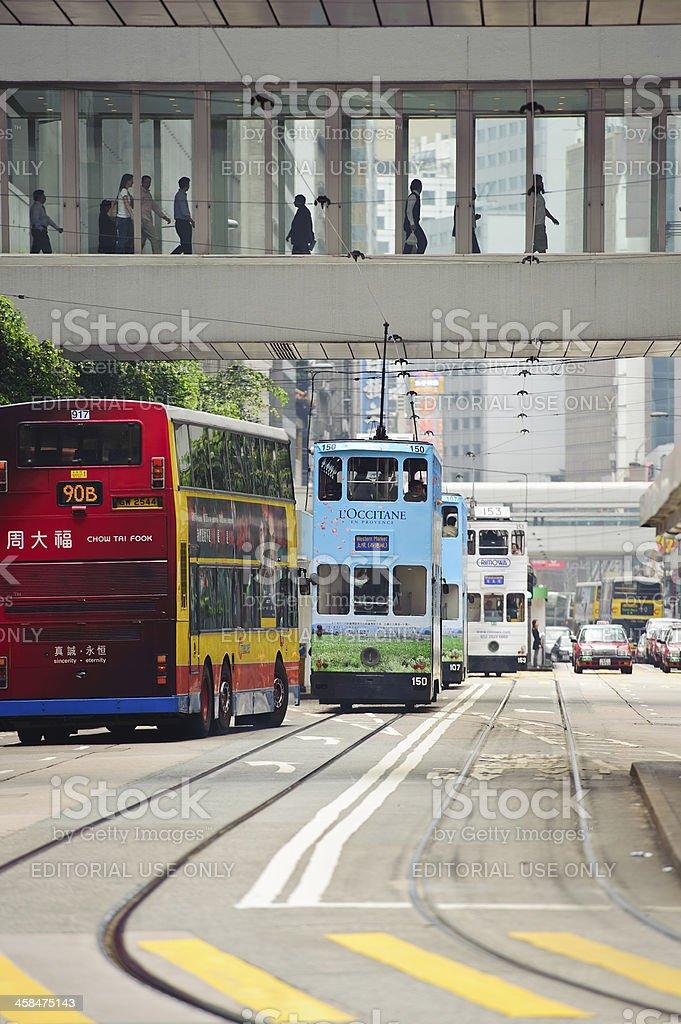 Double decker tram Hong Kong royalty-free stock photo