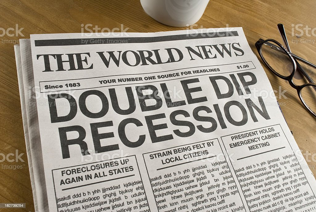 Double Dip Recession stock photo