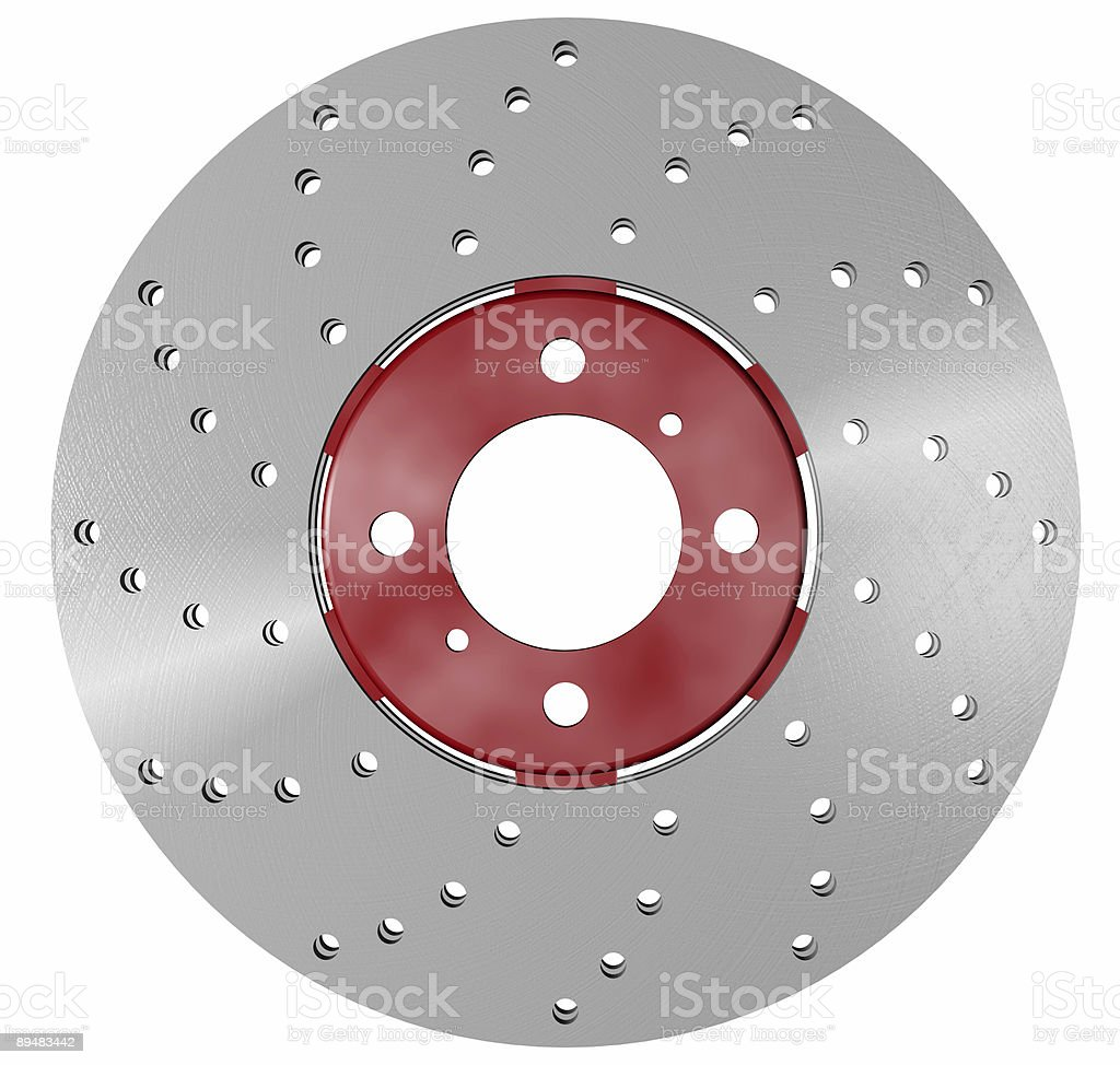 double disc brake rotor royalty-free stock photo