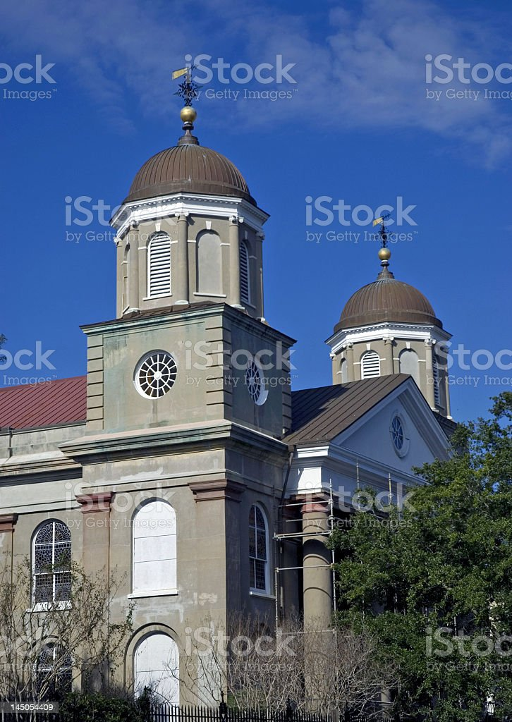 Double Domed Church in Charleston, SC royalty-free stock photo