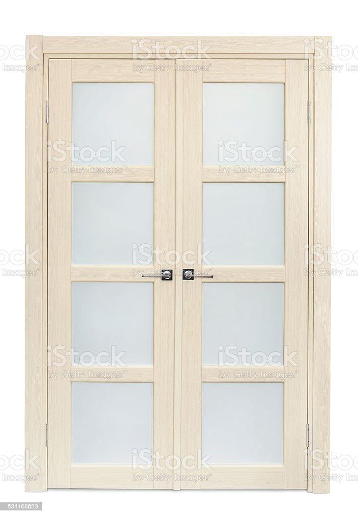 Double door stock photo