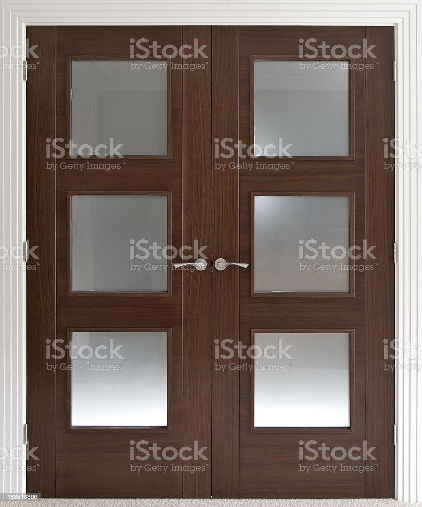 double doors stock photo