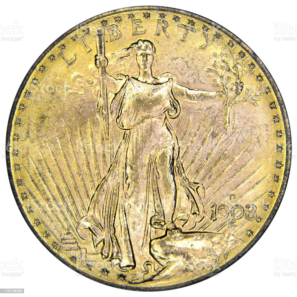 Double Eagle from 1908 stock photo