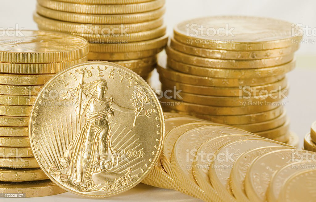 Double Eagle Gold Coin royalty-free stock photo